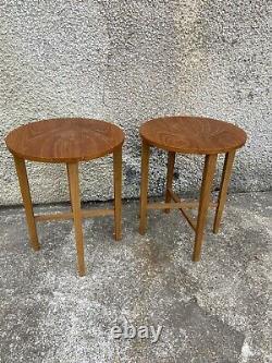 Set Vintage Mid Century Teak Plant Stands Coffee Folding Poul Hundevad Tables P2