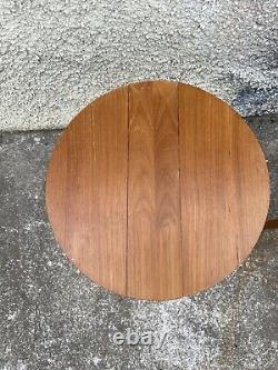 Set Vintage Mid Century Teak Plant Stands Coffee Folding Poul Hundevad Tables P3