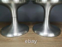 Set of 2 Vintage Retro 60's/70's Tulip Hourglass Aluminium Coffee Table Bases
