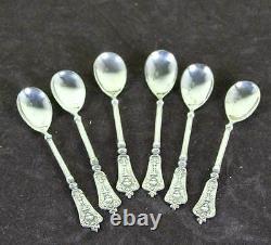 Set of 6 Vintage Sterling Silver Coffee-Spoons