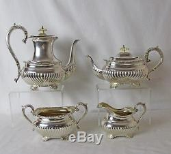 Silver Plated 4 Pc Tea & Coffee Set Vintage Birks Regency Plate Great Condition