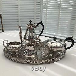 Silver Plated Tea & Coffee Set Vintage Marlboro