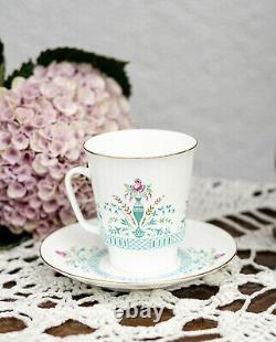 Soviet Vintage 5p Coffee Set, 5 cups and saucers, Lomonosov bone porcelain, LFZ