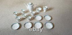 Starline VINTAGE COFFEE SET FINE BONE CHINA Stunning Set rare pattern