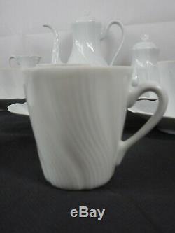Stunning vintage French Limoges porcelain 27 piece tea set / coffee set