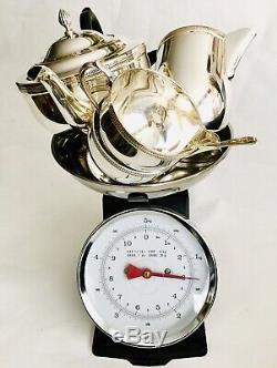 Superb Quality Vintage / Antique Cavalier Silver Plated Tea & Coffee Set (1.4kg)