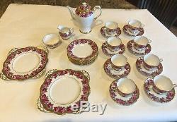 Tuscan Fine English Bone China Dessert Coffee Set for 8 Vintage