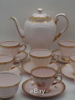 Tuscan Vintage Fine English Bone China Coffee Set of 16 pieces