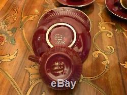 VERY RARE! Vintage Denmark 6 cups 6 saucers 1 Pot Milk Jug Soholm Coffee Set