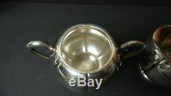 VINTAGE 3-PIECE SANBORN MEXICO STERLING SILVER COFFEE / TEA SET, 1213 grams