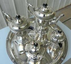 VINTAGE 5 PIECE TEA / COFFEE SET PARAMOUNT TRIPLE SILVER PLATE EPNS (b)