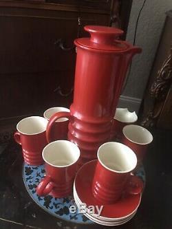 VINTAGE CARLTON WARE MID CENTURY RED COFFEE SET MID CENTURY RED Carlton Ware