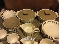 VINTAGE J AND G MEAKIN DINNER, COFFEE AND TEA SET, retro, collectable