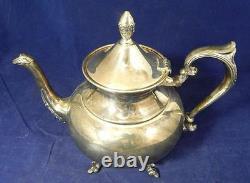 VTG Preisner-Sheffield Silver Over Copper FIVE Piece Coffee & Tea Service Set