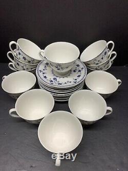VTG Royal Dolton England Yorktown 12 Saucer N Footed Cup Tea & Coffee Set
