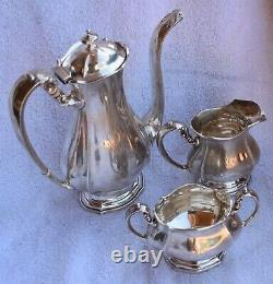 Very Nice Vintage Sterling Silver Frank M. Whiting Co. 3 Piece Coffee & Tea Set