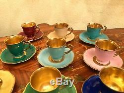 Vintage 11 cups 11 Saucer Germany Schwarzenhammer Porcelain Coffee Set