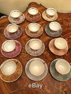 Vintage 12 cups 12 Saucers Japanese Maruei Porcelain Coffee Sets