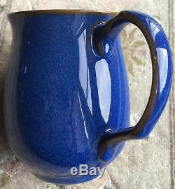 Vintage 13 Piece Denby Imperial Blue English Stoneware Pottery Coffee Set