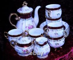Vintage 15 Piece CHINA Coffee Set Japanese'FRESH' design Mother of Pearl Effect