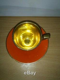 Vintage 15 Piece Carlton Ware Orange Glazed Coffee Set 1920s