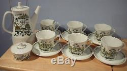 Vintage 16 piece Figgjo Flint Market Coffee Set Norway Turi Design