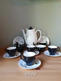 Vintage 1950's British Anchor Poodles Design Complete Coffee Set