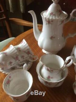Vintage 1960's Richmond Bone China Coffee Set Rose Time Afternoon Tea