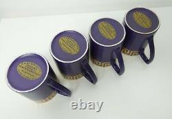 Vintage 1960s Portmeirion purple Greek Key coffee set with pot