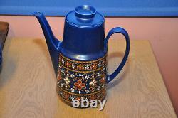 Vintage 1960s Winterling Schwarzenbach Bavaria Blue Coffee Set Western Germany