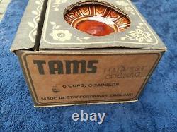 Vintage 1970, s TAMS HARVEST COGNAC boxed Tea Coffee Set 50years Old Super rare
