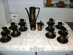 Vintage 1970s Portmeirion Phoenix FULL 28 piece Coffee Set In Original Box