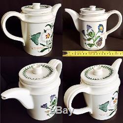 Vintage 1972 Botanic Garden Portmeirion Ironstone Coffee Set (Perfect Condition)