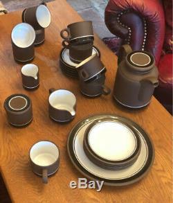 Vintage 1976 HORNSEA Lancaster / Contrast Tea / Coffee Set, 23 pieces