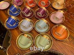 Vintage 21 cups 22 Saucers Danish Royal Copenhagen First Sort Coffee Set