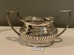 Vintage 3-pc. Edwardian Sheffield Silver Plate Tea / Coffee Set