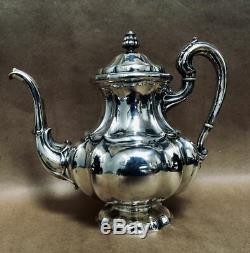 Vintage 4-Piece Sterling Silver 800 Tea and Coffee Set 3,000 grams+