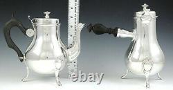 Vintage 4pc French 950 Sterling Silver Georgian Style Tea Coffee Set