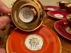 Vintage 6 Cups 6 Saucers German Bavaria Tirschenreuth Porcelain Coffee Set