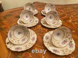 Vintage 6 Cups 6 Saucers German Krautheim Selb Bavaria Porcelain Coffee Set