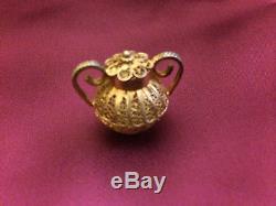 Vintage 7-Piece Miniature Filigree Tea & Coffee Set & Tray