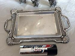 Vintage 925 sterling silver miniature tea service/coffee set, 925 Silver Tray