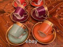 Vintage 9 cups 9 Saucers Danish Royal Copenhagen Coffee Set