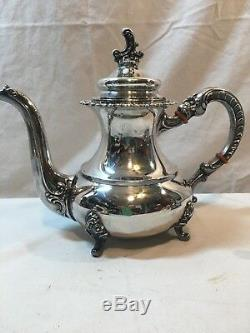 Vintage Alt Heidelberg 4 Piece Sterling Silver Coffee Tea Set Made In Germany