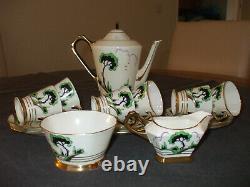 Vintage Art Deco Plant Tuscanware coffee set in vgc retailed by Lawley 15 piece