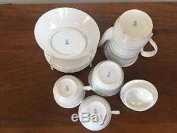 Vintage Augarten Wien Vienna Partial White Porcelain Coffee Set