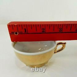 Vintage Bavaria Gold Demitasse Tea Espresso Coffee Pot Cup Saucer Set Serves 6