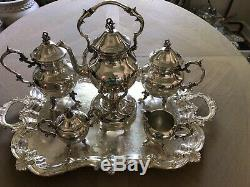 Vintage Birmingham Silver Co. Silver Over Copper Tea And Coffee Set