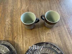 Vintage Danish 20 Piece AMAZONAS Coffee Set BR Keramic signed Einer Hellroe