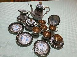 Vintage Dragonware Moriage 15pce Tea Coffee Set